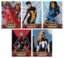 Iron Man 2 Sketch Cards 4 by ElainePerna