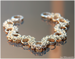 Chainmaille bracelet 4 by Gex78