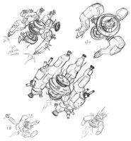 Radial Spaceship Designs by thomastapir