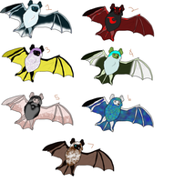 Little Brown Bats batch 1 Adoptable for free by NaschaChimera