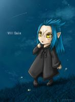 Chibi Saix: distant moon by Rosaka-Chan