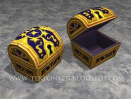 KH2 Treasure Chest Papercraft by Tektonten