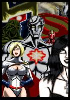 Captain Atom / Powergirl : Shadows and Echoes by adamantis