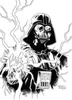 Darth Vader inked by jasonbaroody