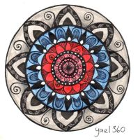 Full color bulls eye mandala by yael360