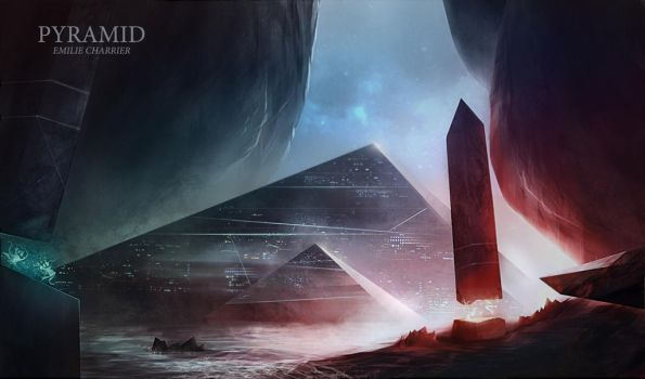Pyramid - Digital Painting by e-charrier