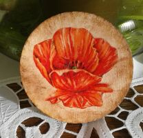 Decoupage cup pad flower by SteamJo