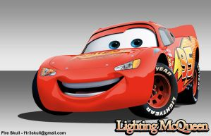 Lighting McQueen by f1r3skull