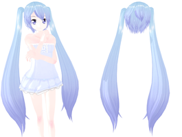 MMD Bluey twin long tail hair Download by 9844