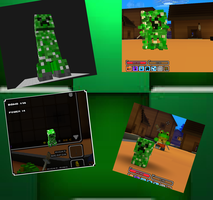 cube world creeper bomb model by criperss
