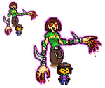 Crossed Bizarre Adventures - Frisk and Chara by SjuniorTai