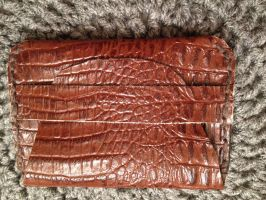 Leather alligator stamped wallet by Drgibbs
