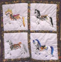 Completed KISS carousel Quilt by carouselfan