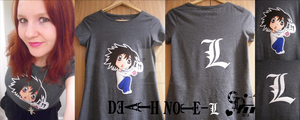 .:L from Death Note T-Shirt:. by CandyDeathMachine
