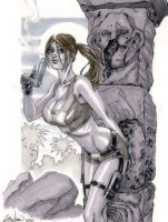 Lara Croft of Tomb Raider Commission by John-Stinsman