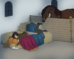 Reading in the stable by Danesippi
