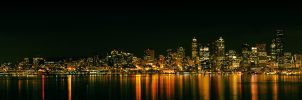 Seattle Night Skyline by ThatFunk