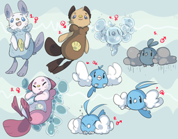PKMNation: Faeryn and Olliver Clutch CLOSED by alsoword