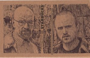 Walter White + Jesse Pinkman - BREAKING BAD napkin by JOSHic