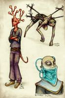 Some characters from Abarat by JohannesVIII