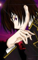 "Lelouch as ""The Thinker"" by MidnightPhoenixx"