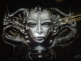 Airbrush Giger art by aircap