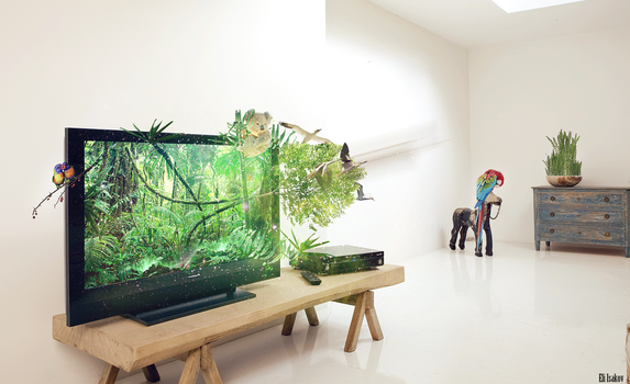 Real 3D TV by KRONTM