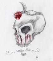 Red Rose Cannibal Skull by Chaosty