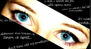 expressed within my eyes by body-language