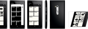 Windows Phone Metro Black and White Concept by michalkosecki