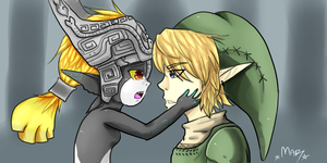 Link and Midna by MijuMar