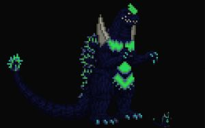 Super Godzilla Sprite by Linkzilla