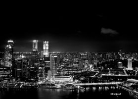 Singapore in monochrome 01 by KanutoX