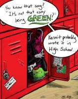 Beast Boy - School Locker by melimsah