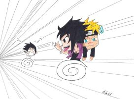 Sasuke VS Charasuke: Catch Him If You Can! by MikaGx