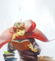 in the underwater library by Loika