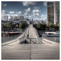 Passerelle Simone de Beauvoir II by hmdll
