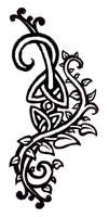 celtic vines tattoo design by DomoBraden
