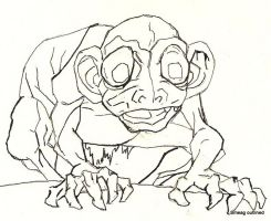 Smeagol/Gollum Outline by tarpalsfan