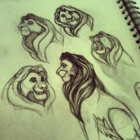 Mufasa - sketches by TehChan