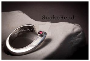 Snakehead Ring by SteveSilver925