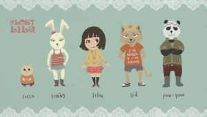 Lila and Friends by zsami