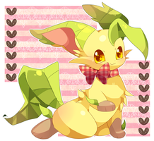 Leafeon Pokemon kawaii by BiyomonCuty