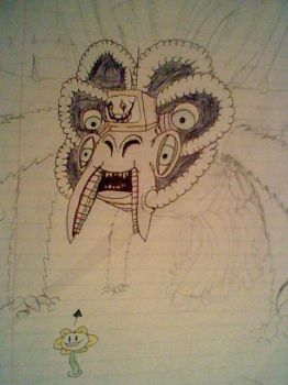 Old Unfinished Omega Flowey Sketch by Titan2001FTW