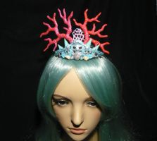 Ocean Empress - handmade Mermaid Crown by Ganjamira