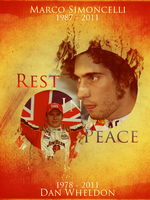 Marco Simoncelli + Dan Wheldon by ChrisHolley