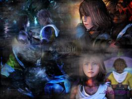 Tidus and Yuna Wallpaper by DrunkenCraig