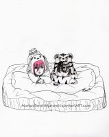 Day 11 - Sleepover by ManiacTenshi