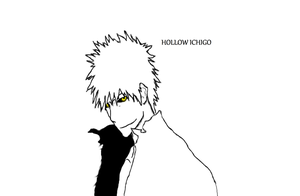 Hollow Ichigo by shadowwolf233