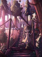 at the bridge by Anako-ART